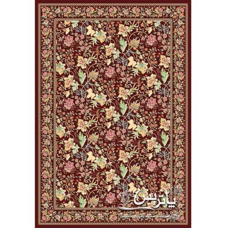 فرش پاتریس طرخ زنبق گل برجسته