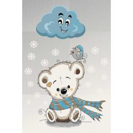 فرش ساوین طرح خرس برفی